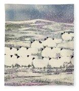 Sheep In Winter Fleece Blanket