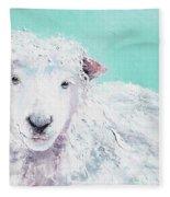 Sheep Painting - Jeremiah Fleece Blanket