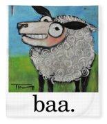 Sheep Poster Fleece Blanket