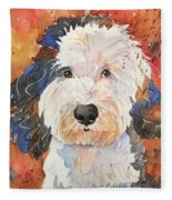 Sheepadoodle Fleece Blanket