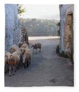 Sheeps Of Crete Fleece Blanket
