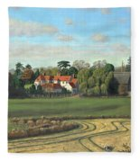 Sheering Hall Near Harlow Essex Fleece Blanket