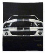Shelby Mustang Front Fleece Blanket