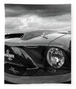 Shelby Super Snake Mustang Grille And Headlight Fleece Blanket