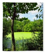 Sheldon Marsh Algae Pond Fleece Blanket