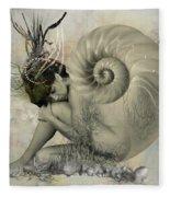 Shell Of Life  Fleece Blanket