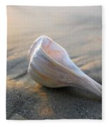 Shell On The Beach Fleece Blanket