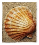 Shell On The Sand Fleece Blanket