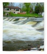 Shell Rock Iowa Dam 2 Fleece Blanket