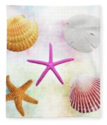 Shells Background Fleece Blanket
