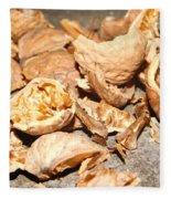 Shells Of Nut Fleece Blanket