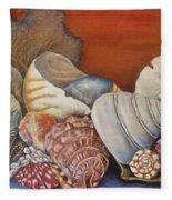 Shells On Shelf Fleece Blanket
