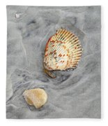 Shells On The Beach II Fleece Blanket