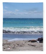 Shells On The Beach Fleece Blanket