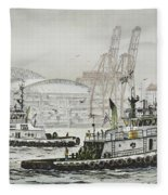 Shelly And Wedell Foss Fleece Blanket
