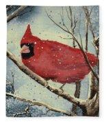 Shelly's Cardinal Fleece Blanket
