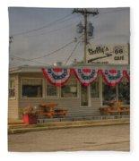 Shellys Route 66 Cafe Cuba Mo Dsc05554 Fleece Blanket