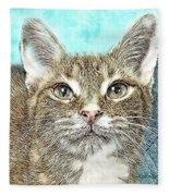 Shelter Cat Fantasy Art Fleece Blanket