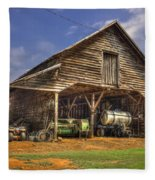 Shelter From The Storm Wrayswood Barn Fleece Blanket