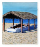 Sheltered Boat Fleece Blanket