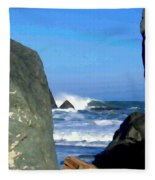 Sheltered From The Wind Fleece Blanket