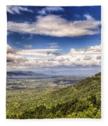 Shenandoah National Park - Sky And Clouds Fleece Blanket