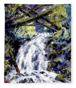Shepherds Dell Falls Coumbia Gorge Or Fleece Blanket