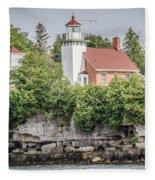 Sherwood Point Lighthouse Fleece Blanket