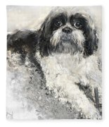 Shi-tzu Fleece Blanket