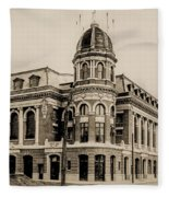 Shibe Park 1913 In Sepia Fleece Blanket