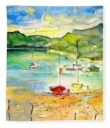 Shieldaig In Scotland 03 Fleece Blanket