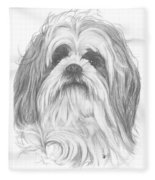 Shih-poo Fleece Blanket