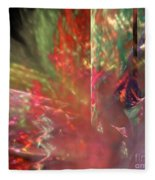Shimmer Leaves Fleece Blanket