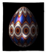 Shimmering Christmas Ornament Egg Fleece Blanket