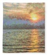 Shimmering Light Over The Water Fleece Blanket