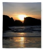 Shimmering Sands Sunset Fleece Blanket