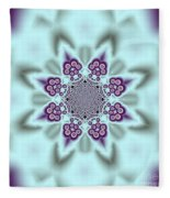 Shimmering Snowflake Fleece Blanket