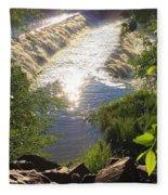 Shimmering Sun Rays On Colorado Springs Fleece Blanket