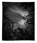 Shimmering Tree Branches Fleece Blanket