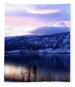Shimmering Wood Lake Fleece Blanket