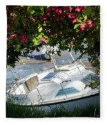 Shindilla Framed With Flowers Fleece Blanket