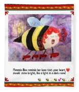 Shine Your Heart Bright  Fleece Blanket