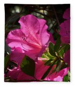 Shining Azalea Fleece Blanket