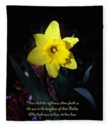 Shining Daffodil Fleece Blanket