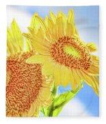 Shining Sunflowers Fleece Blanket