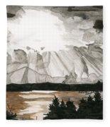 Shining Through The Storm Fleece Blanket