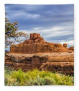 Ship In The Desert Fleece Blanket