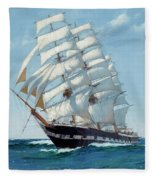 Ship Waimate - Detail Fleece Blanket