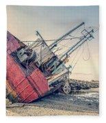 Shipwreck Provincetown Breakwater Fleece Blanket