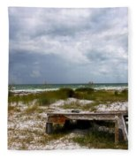 Ship Wrecked And Buried Fleece Blanket